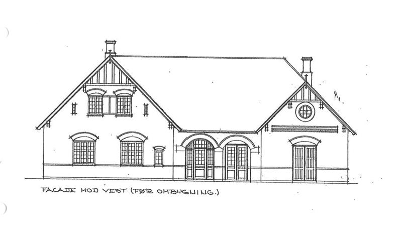 Facade vest - gammel tegning